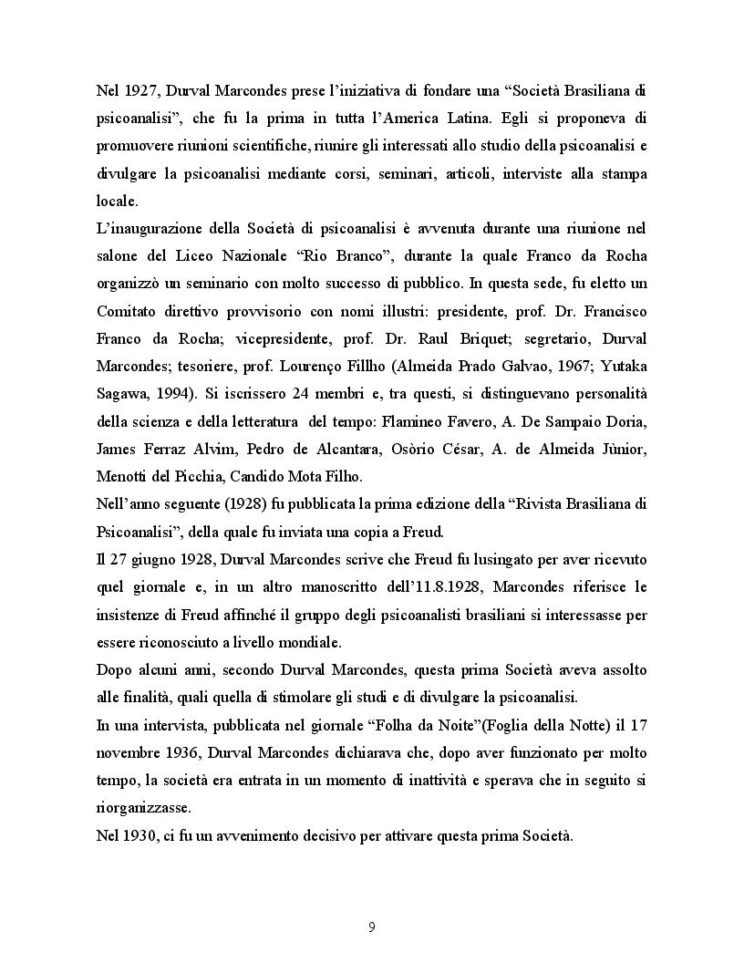 Estratto dalla tesi: Lo sviluppo del movimento psicoanalitico in Brasile con particolare riferimento all'influenza esercitata da W. Bion