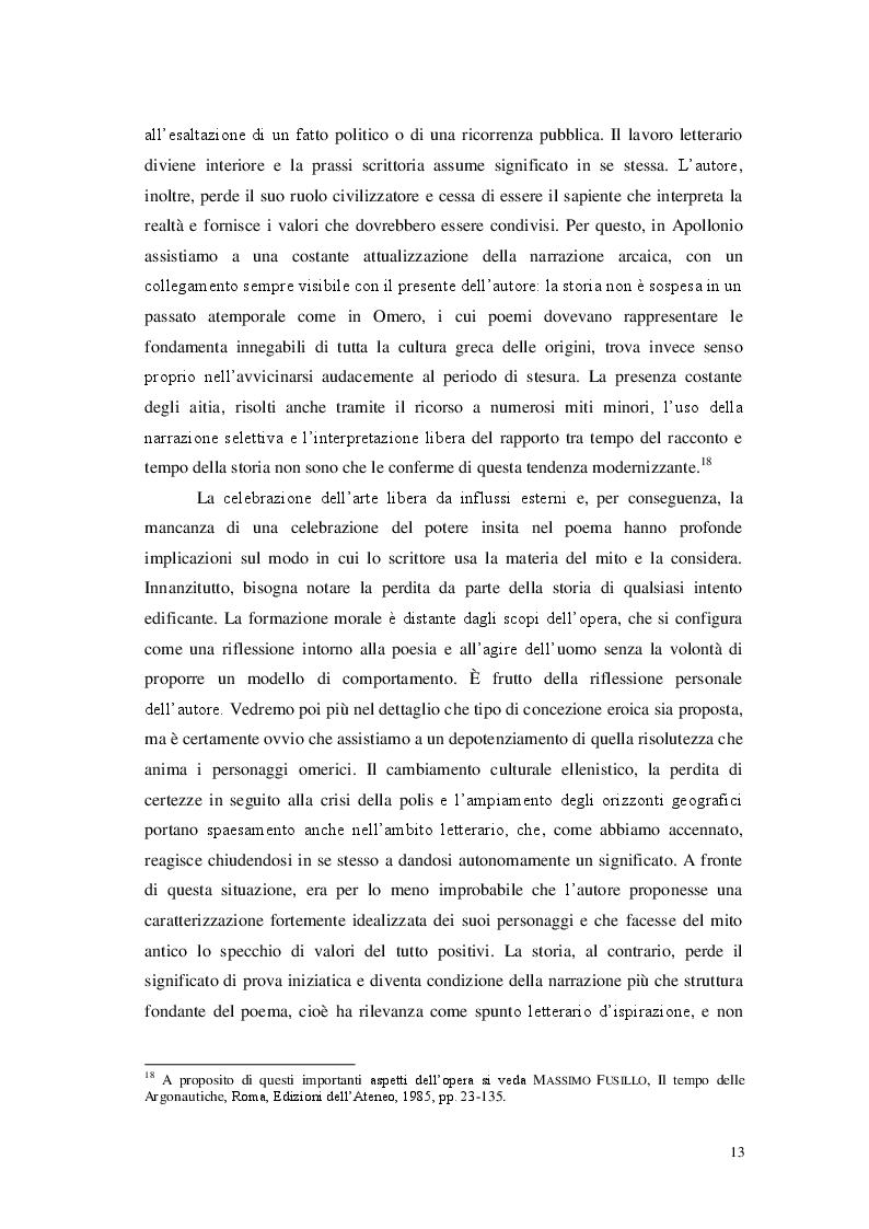 Estratto dalla tesi: Declinazioni dell'eroismo nella saga argonautica