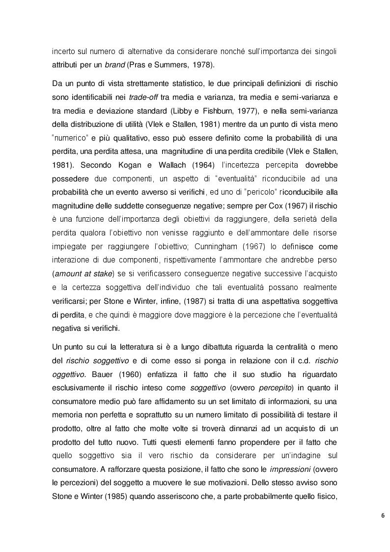 Estratto dalla tesi: Auto elettriche e comportamento del consumatore: un'analisi sul rischio percepito e le intenzioni d'acquisto