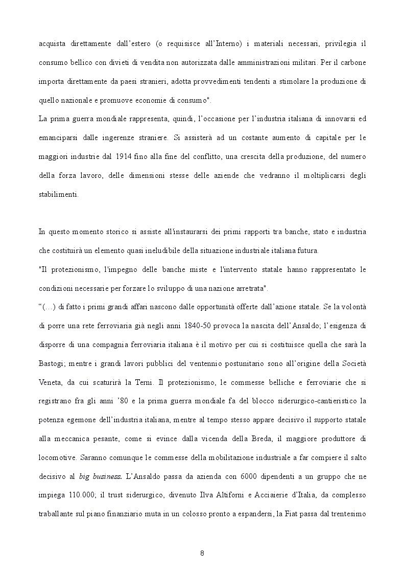 Estratto dalla tesi: L'industria Italiana tra potere statale e impresa privata. Il divario Nord-Sud e le cattedrali nel deserto