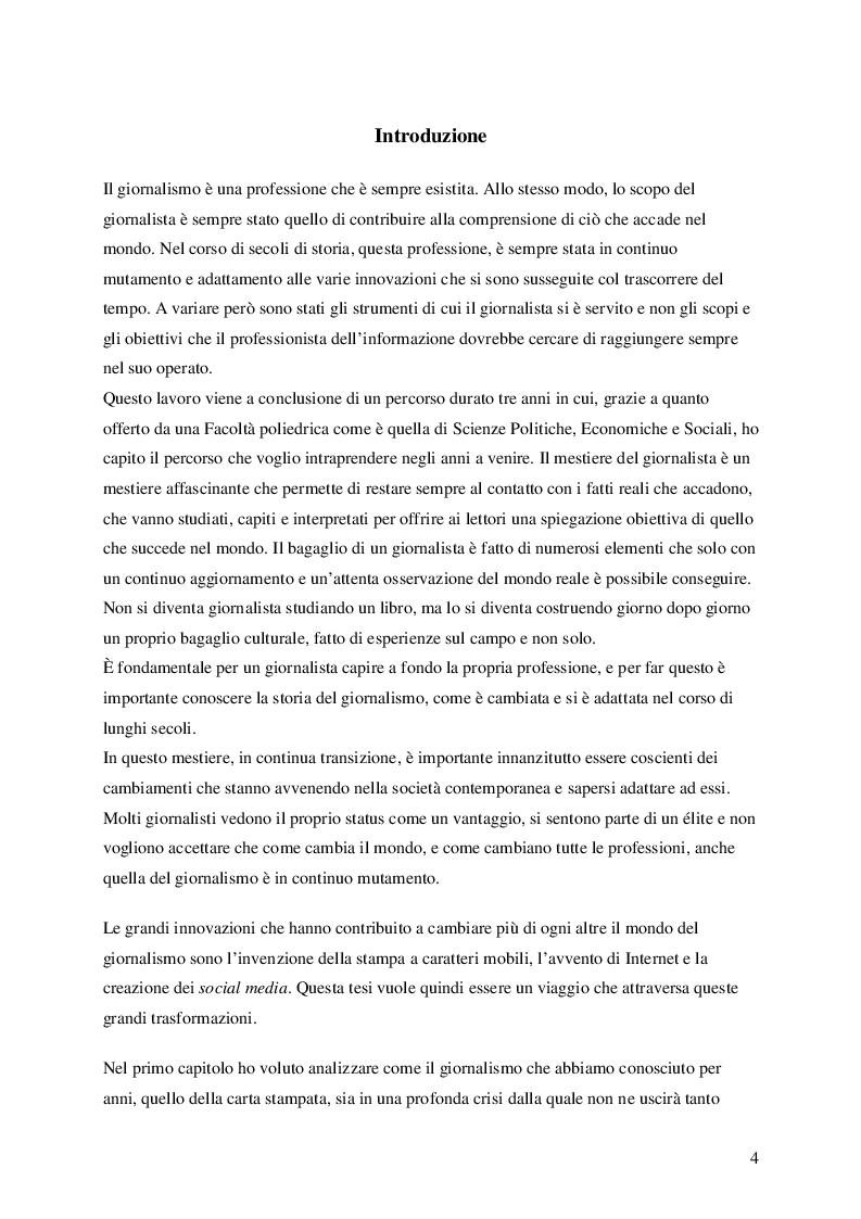 Anteprima della tesi: Nuove frontiere dell'informazione: giornalismo online e Twitter, Pagina 2