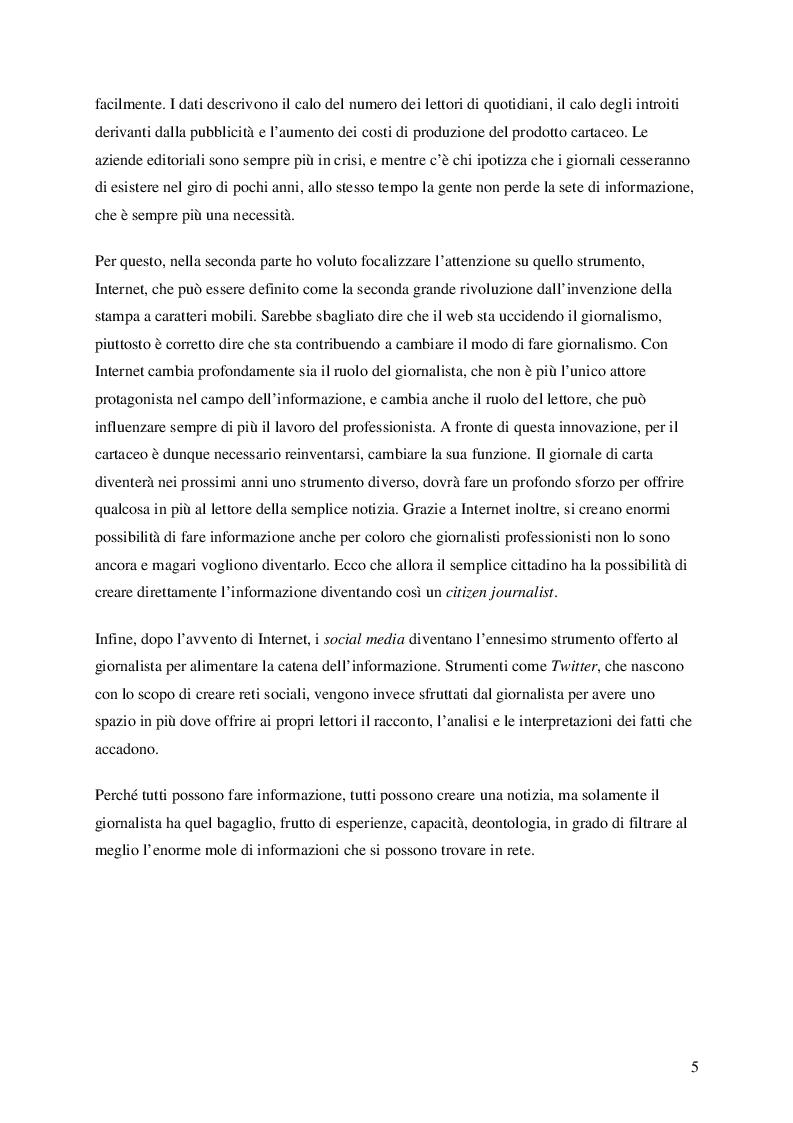 Anteprima della tesi: Nuove frontiere dell'informazione: giornalismo online e Twitter, Pagina 3