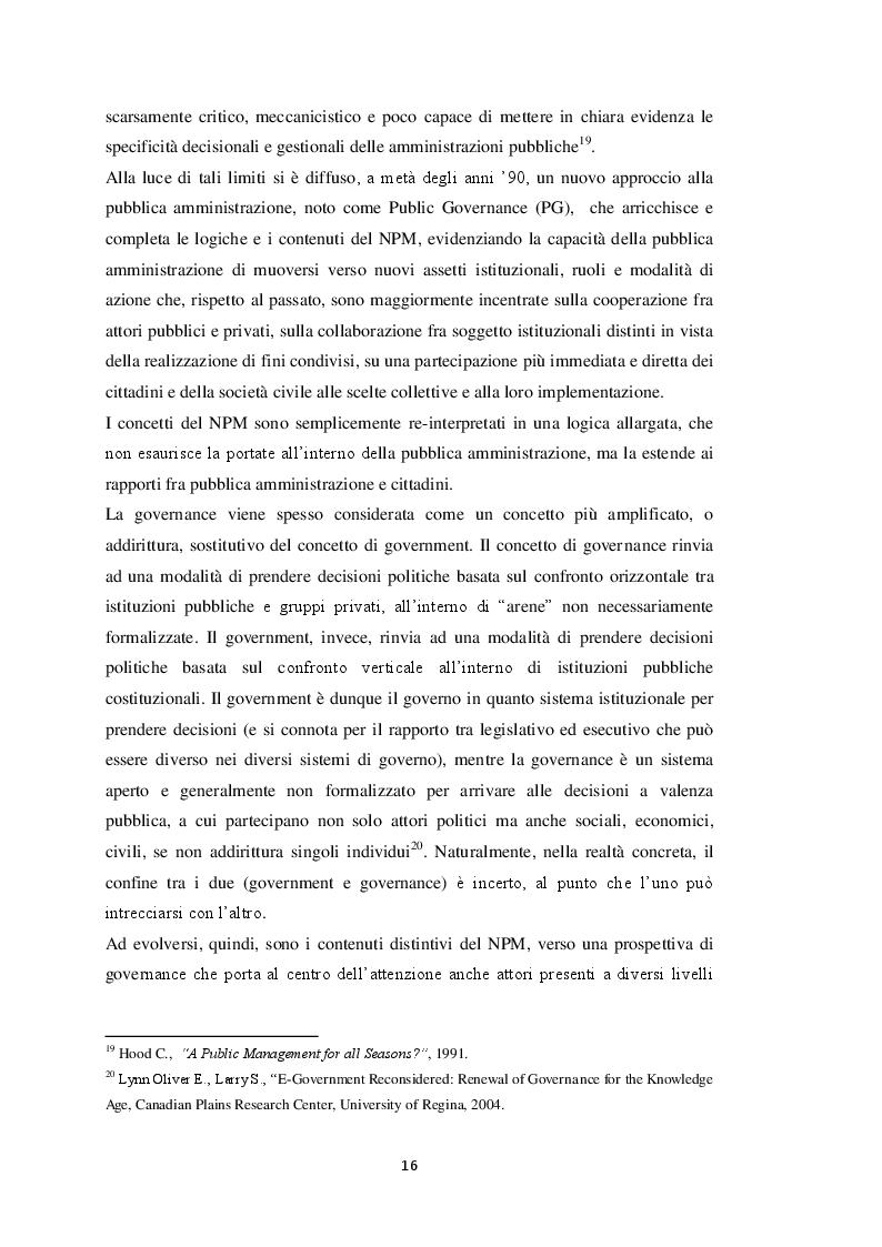 Estratto dalla tesi: Il Project Financing in tempi di crisi della finanza pubblica: riflessioni ed evidenze alla luce del caso del Comune di Cerreto di Spoleto
