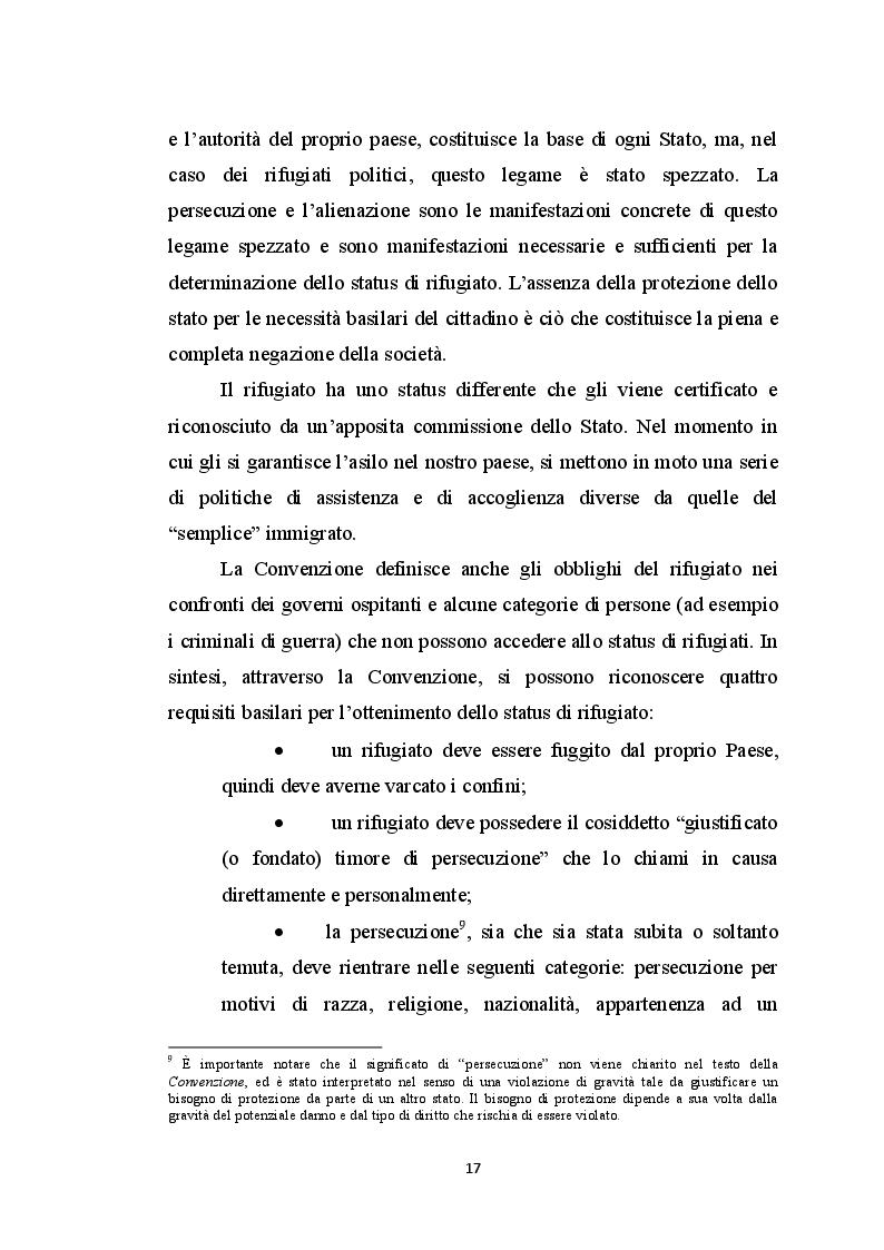 Estratto dalla tesi: Rappresentazione del Sé, direzione degli atteggiamenti pregiudiziali e orientamento valoriale in un gruppo di rifugiati politici