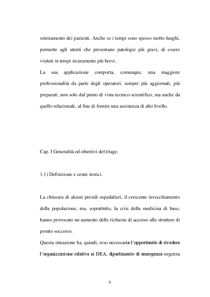 Anteprima della tesi: Il triage infermieristico: indagine conoscitiva, Pagina 3