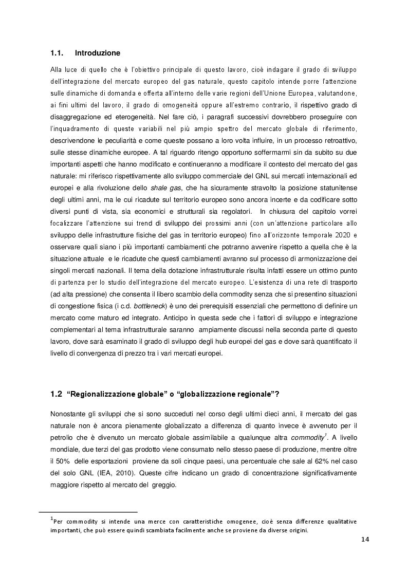 Estratto dalla tesi: Attualità e prospettive di sviluppo degli hub europei del gas: convergenza di prezzi e integrazione del mercato europeo