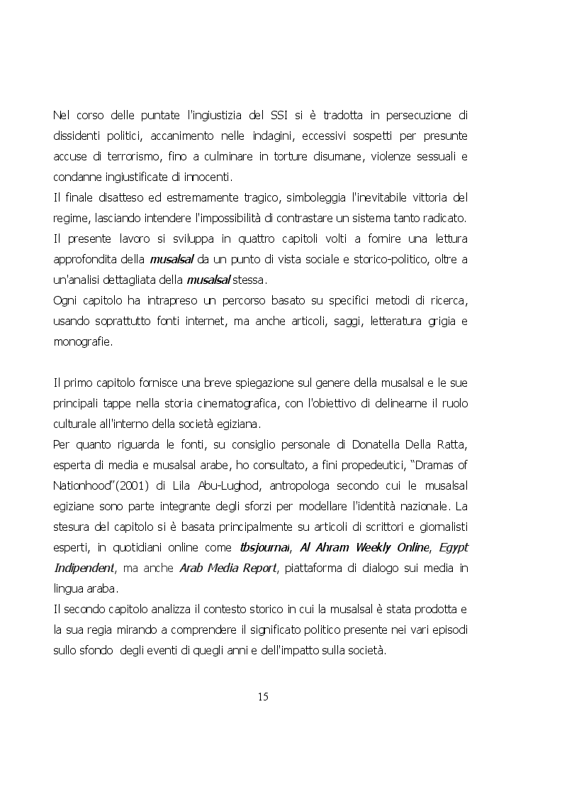 Estratto dalla tesi: ''Ādam'' 2011: lettura socio-politica di una musalsal egiziana del post Rivoluzione