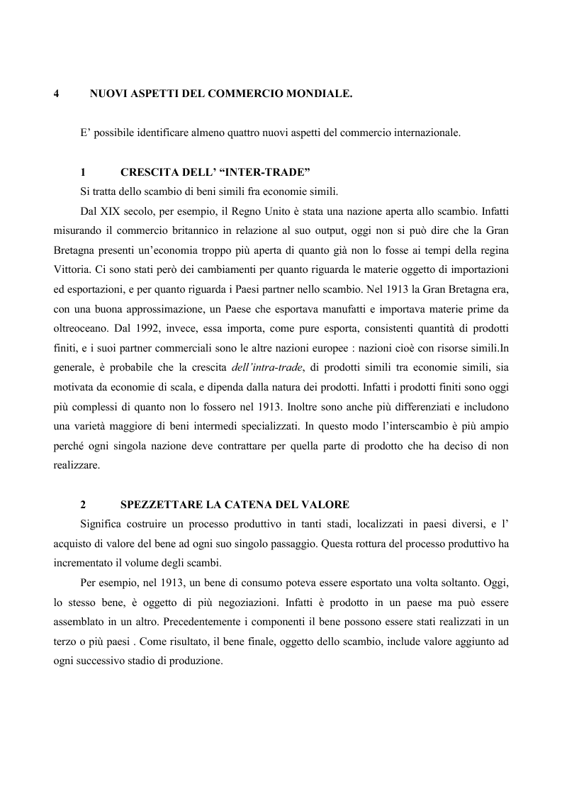 Anteprima della tesi: La globalizzazione e il mercato del lavoro: la realtà americana ed europea a confronto, Pagina 11