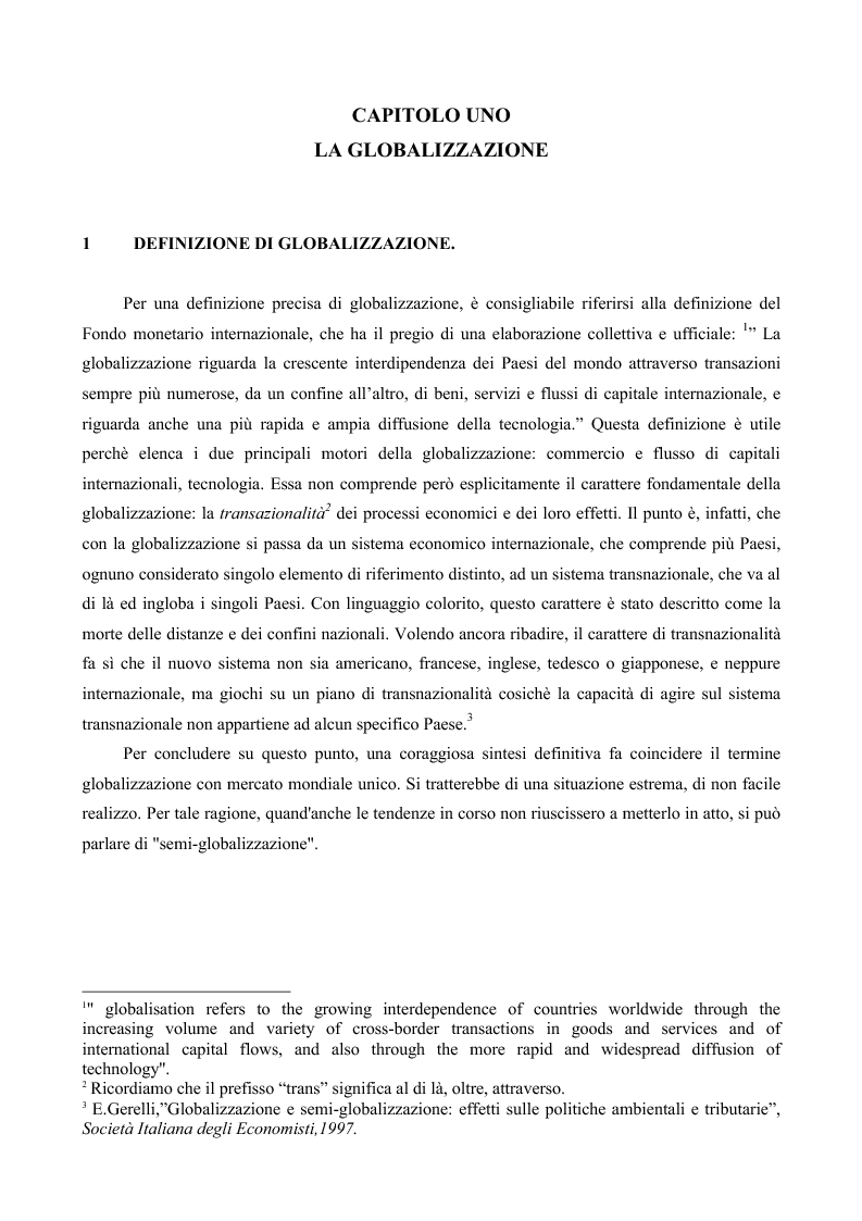 Anteprima della tesi: La globalizzazione e il mercato del lavoro: la realtà americana ed europea a confronto, Pagina 2