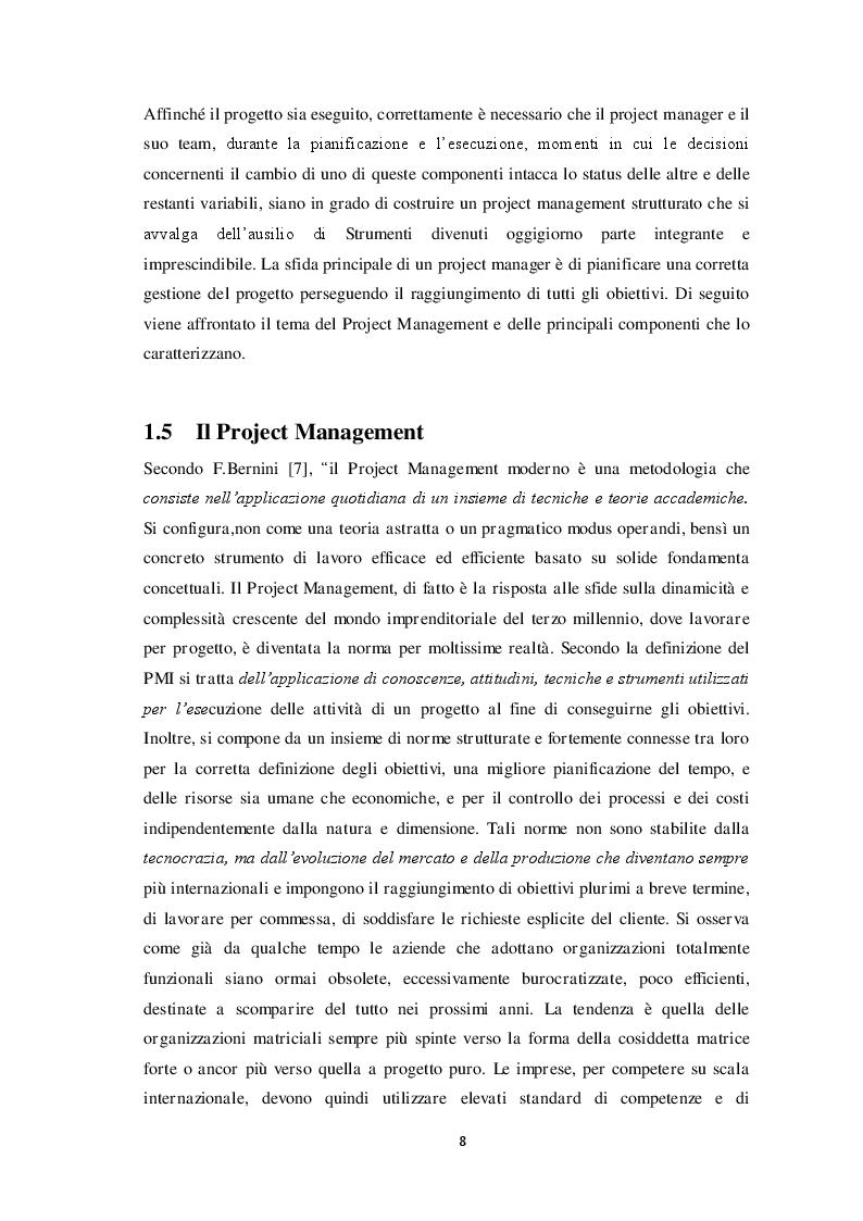 Estratto dalla tesi: Gli strumenti di Project Management: Tecniche, Metodologie e Tool