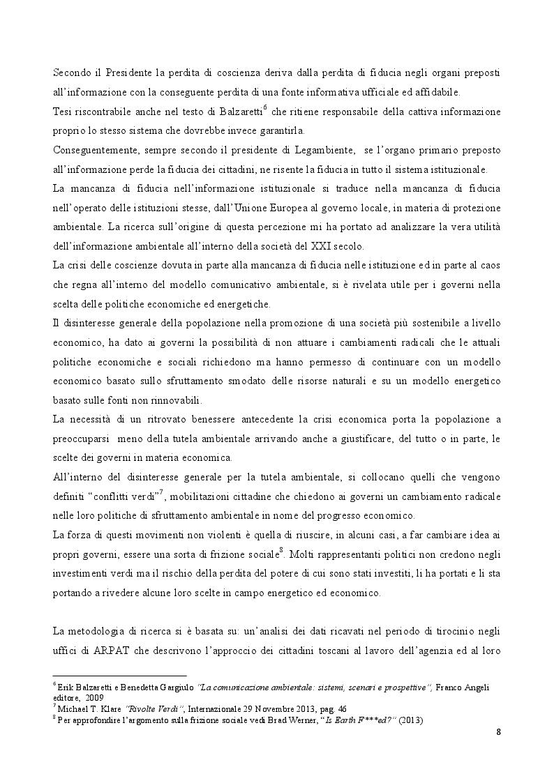 Anteprima della tesi: Comunicare l'Ambiente. L'importanza della comunicazione ambientale nella società del XXI secolo, Pagina 5