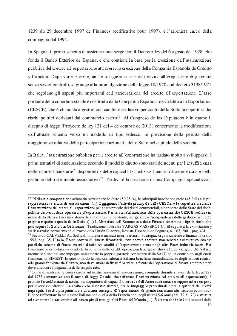 Estratto dalla tesi: L'assicurazione del credito all'esportazione: profili di comparazione tra Italia e Argentina.