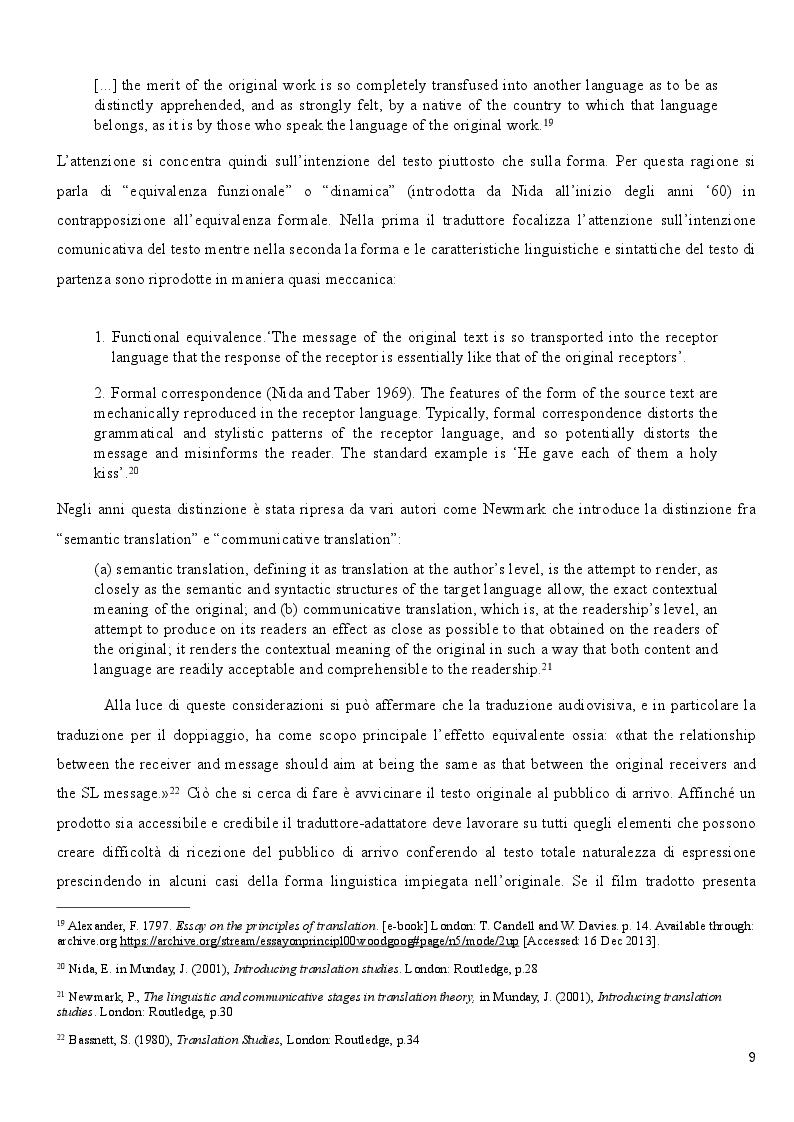 Estratto dalla tesi: Il Doppiaggio: proposta di traduzione e adattamento dei dialoghi della seconda puntata di The Buddha of Suburbia