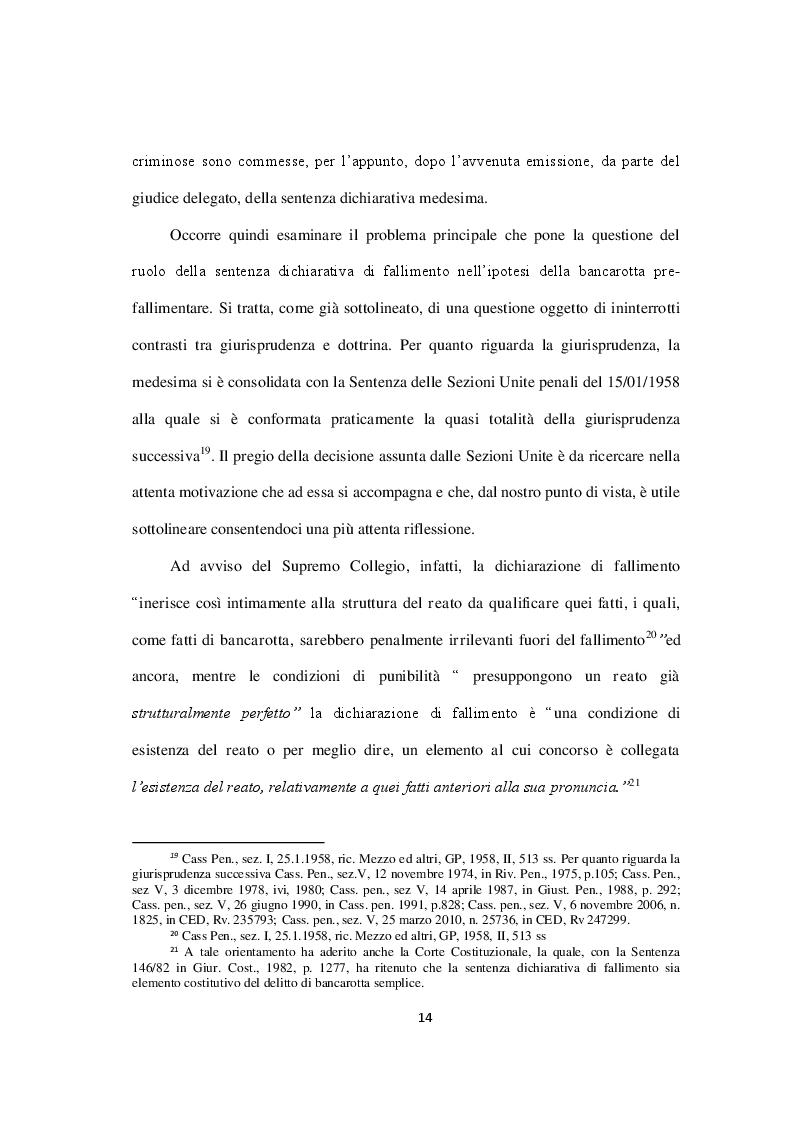 Estratto dalla tesi: I delitti di bancarotta fraudolenta con particolare riferimento al concorso dell'extraneus
