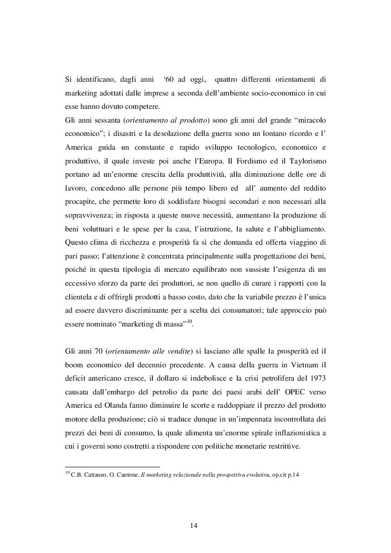 Estratto dalla tesi: L'evoluzione del marketing ed i suoi principali sviluppi nell'era postmoderna