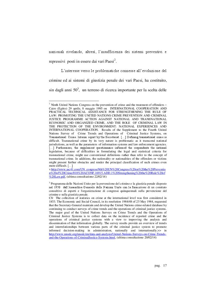 Estratto dalla tesi: Ricerca e assunzione transnazionale delle prove penali: le squadre investigative comuni