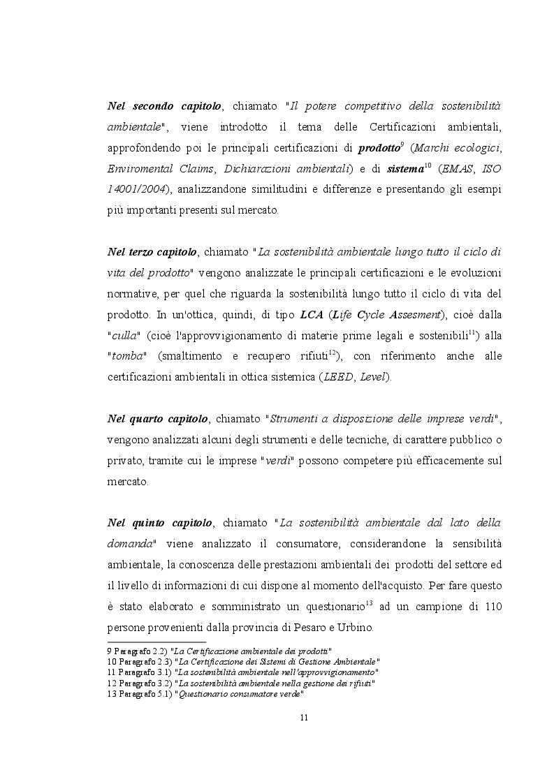 Anteprima della tesi: La sostenibilità ambientale come fattore di competitività nel settore legno-arredamento, Pagina 6