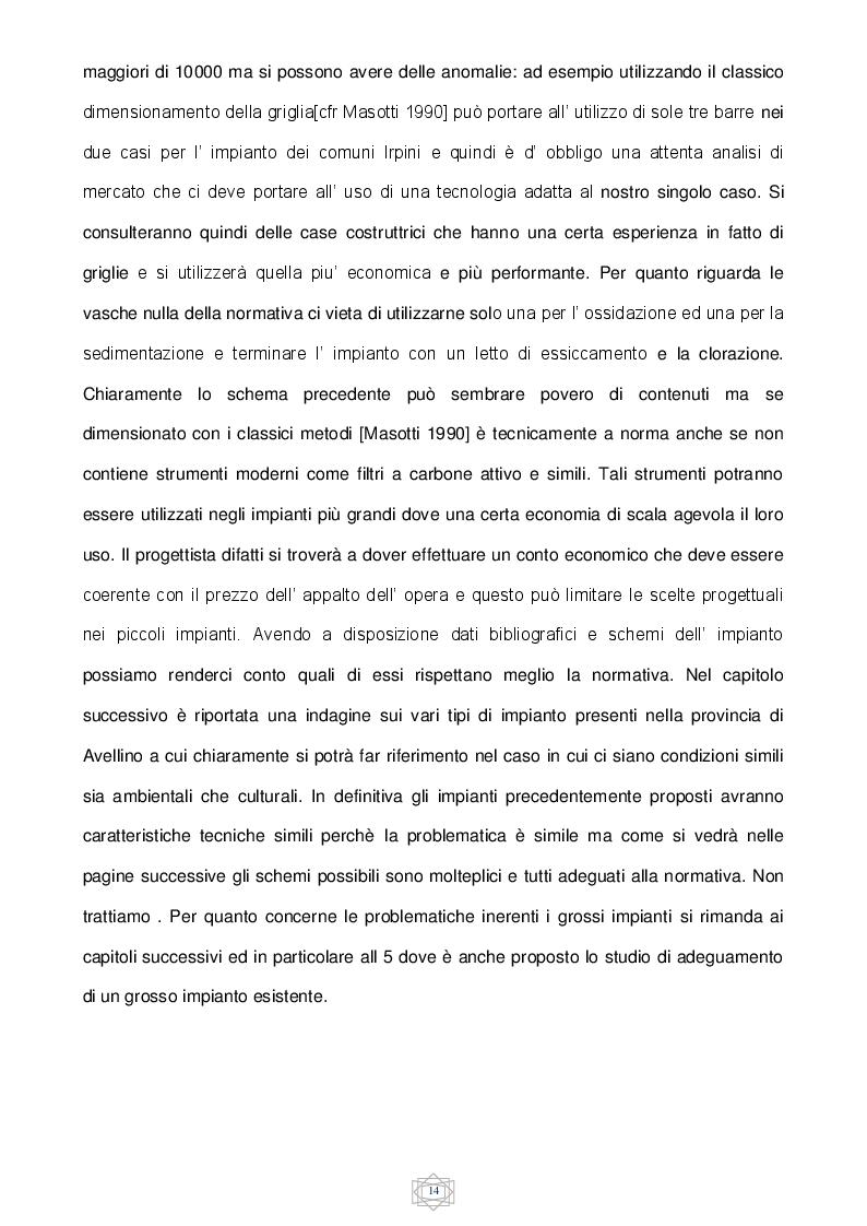 Estratto dalla tesi: Proposta di adeguamento dell' impianto di depurazione di Pianodardine (AV)