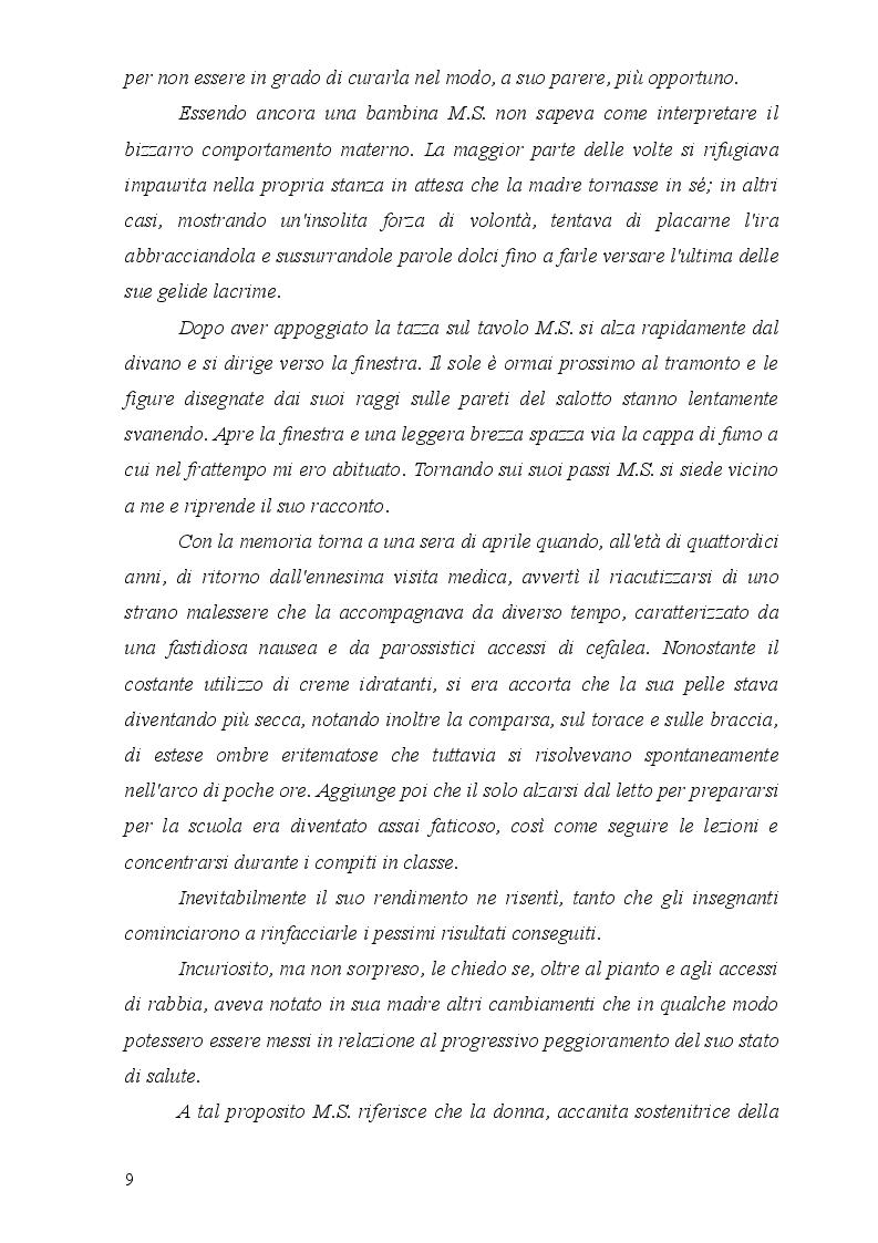 Estratto dalla tesi: La Sindrome di Munchausen per Procura