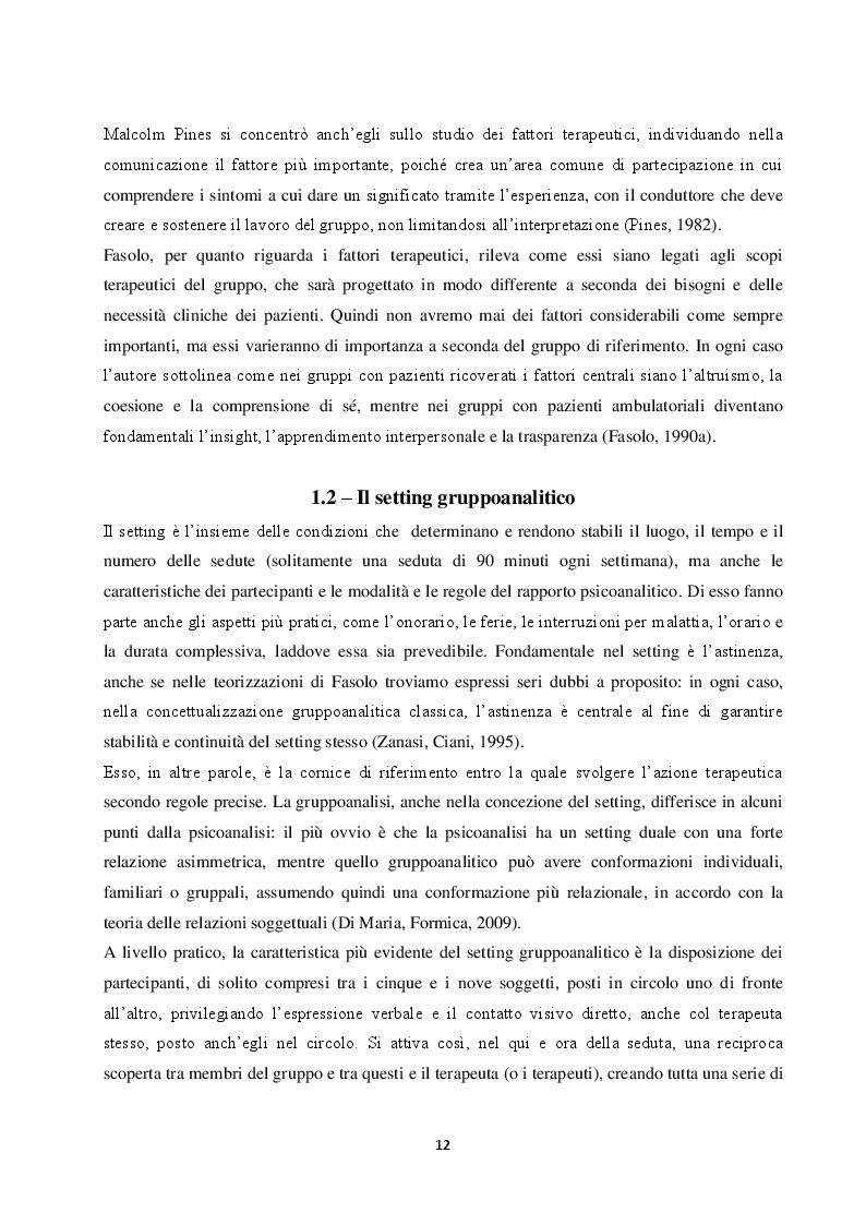Estratto dalla tesi: Là dove regna il gruppo: Il contributo di Franco Fasolo alla gruppoanalisi all'interno della psichiatria di comunità