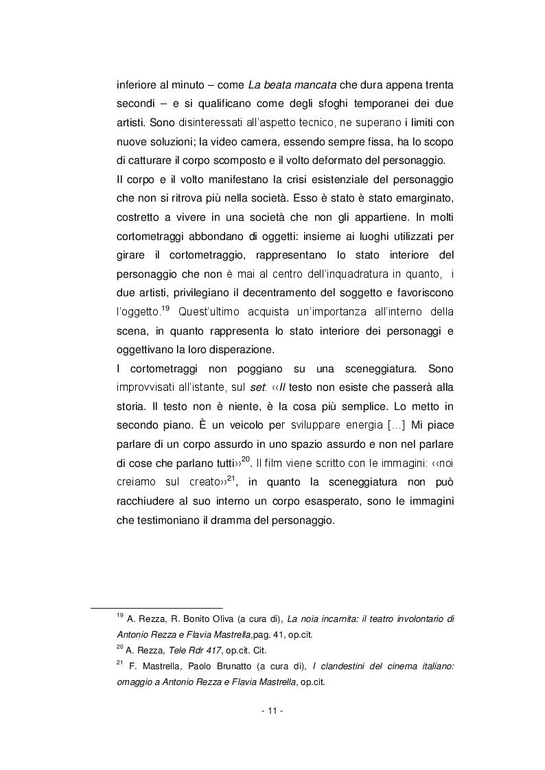Estratto dalla tesi: Il cinema di Antonio Rezza e Flavia Mastrella