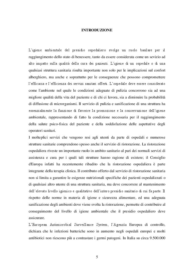 La bioluminescenza: un metodo rapido per la validazione dei processi di sanificazione nella ristorazione ospedaliera - T...