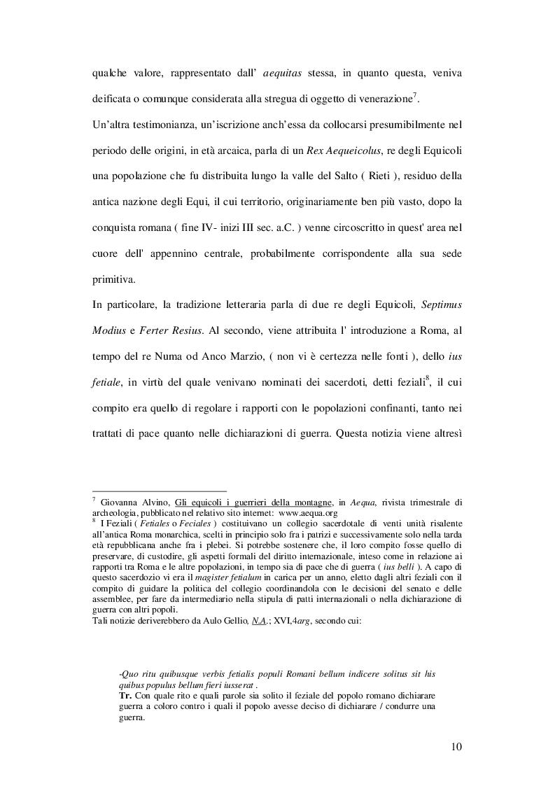 Estratto dalla tesi: Il valore dell'aequitas nella formazione del Ius honorarium
