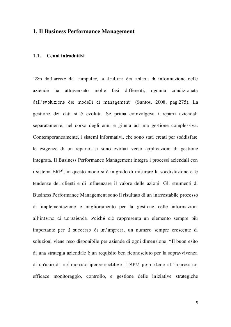 Anteprima della tesi: Strumenti di Business Performance Management: le offerte per le piccole e medie imprese sul mercato europeo, Pagina 5