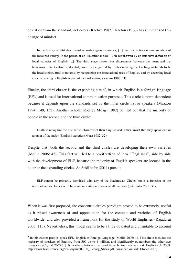 Estratto dalla tesi: English as a Lingua Franca and Spanglish in blog communication: a case study