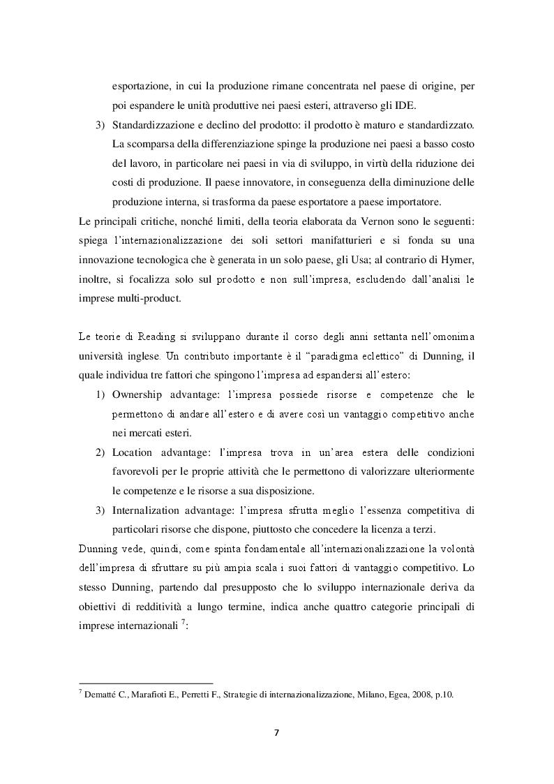 Estratto dalla tesi: Internazionalizzazione & Made in Italy: il caso Sanpellegrino S.p.a.
