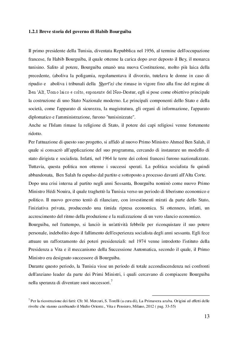 Estratto dalla tesi: La Primavera araba: cause e sviluppi