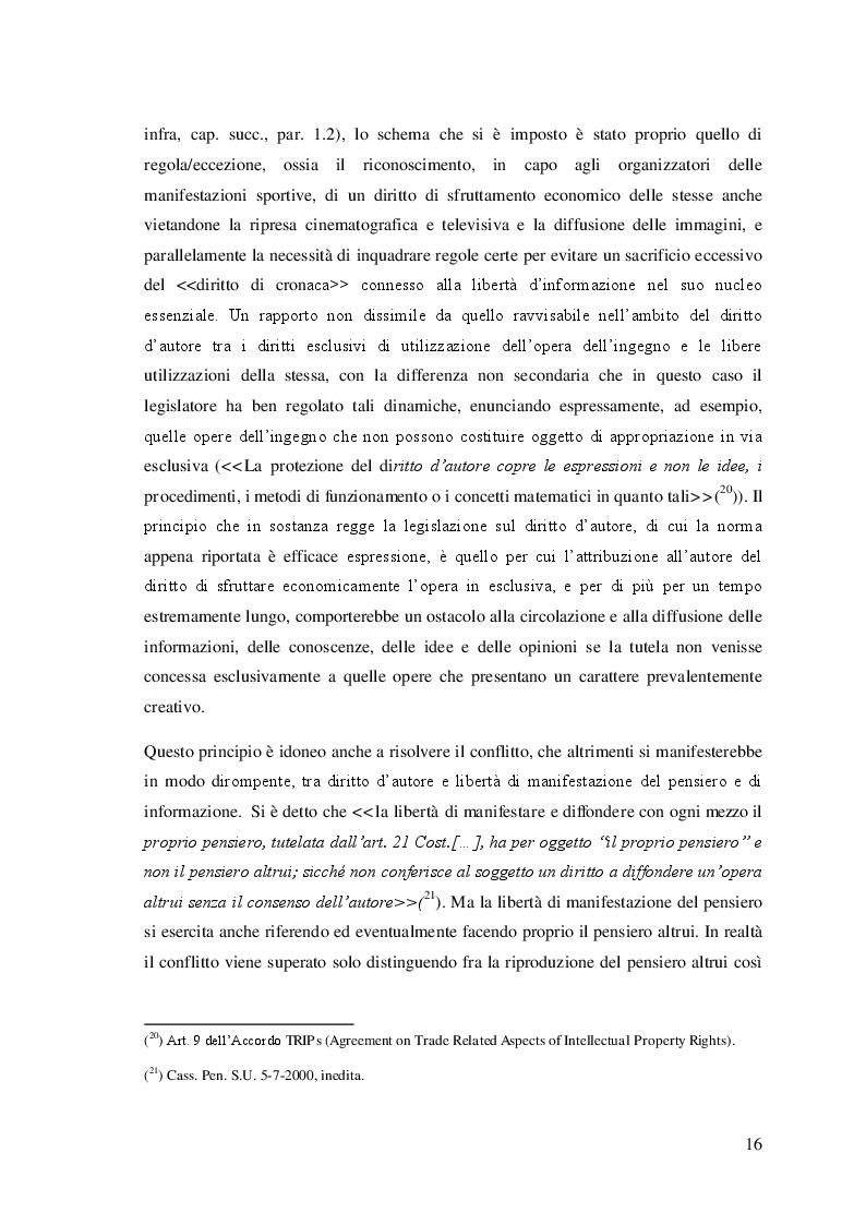 Estratto dalla tesi: I diritti audiovisivi del calcio in Italia e in Europa