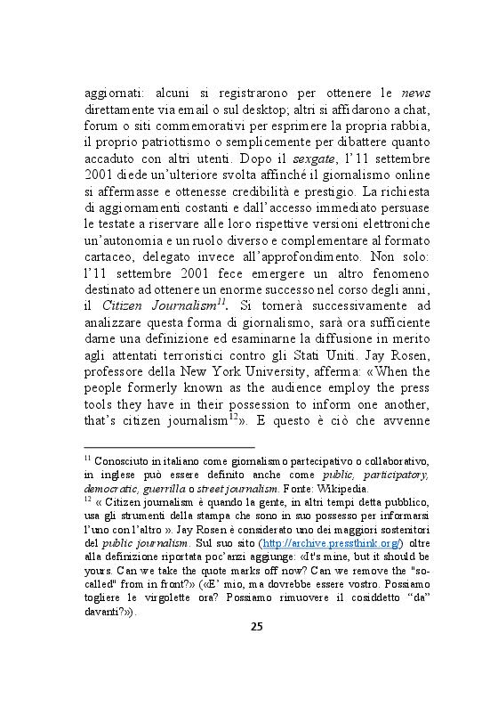 Estratto dalla tesi: Giornalismo online: dalla retribuzione alla visibilità