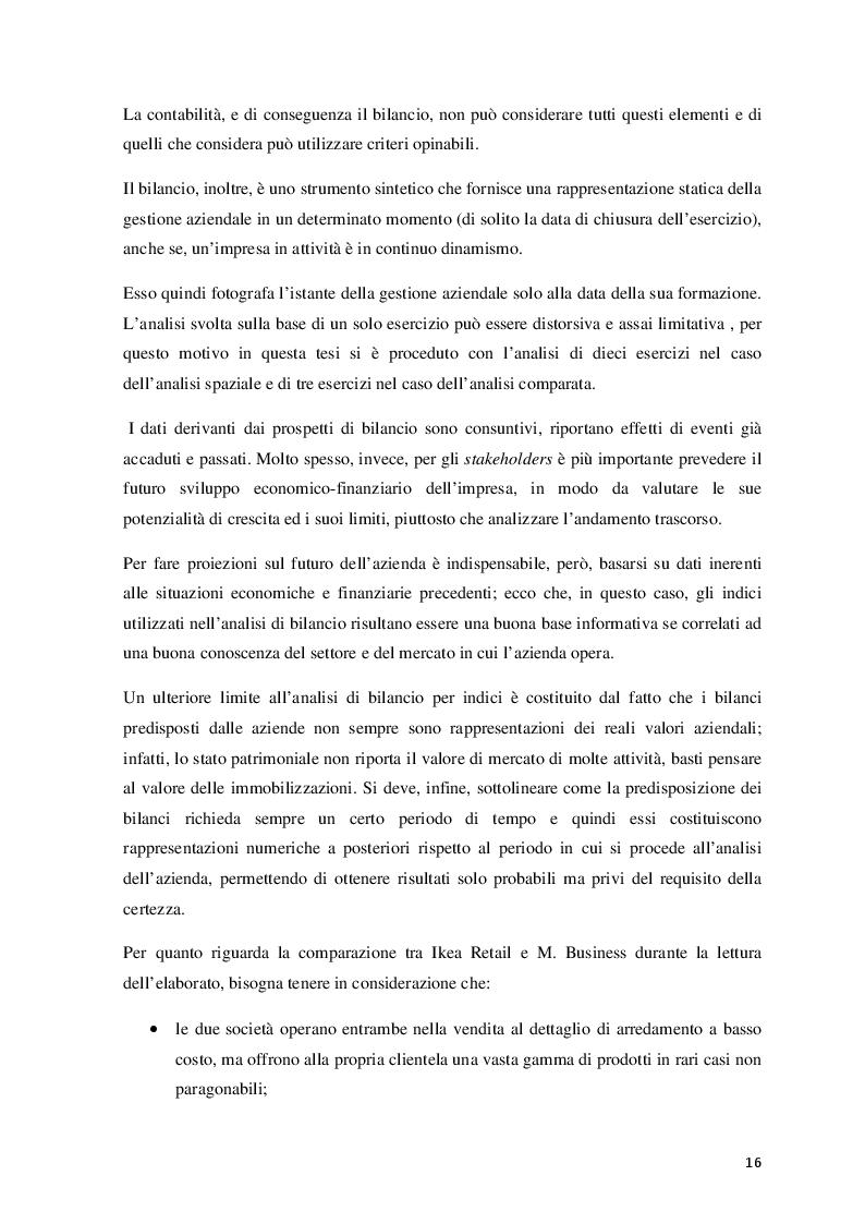 Estratto dalla tesi: Finalità e limiti dell'analisi di bilancio. Analisi di un caso concreto.