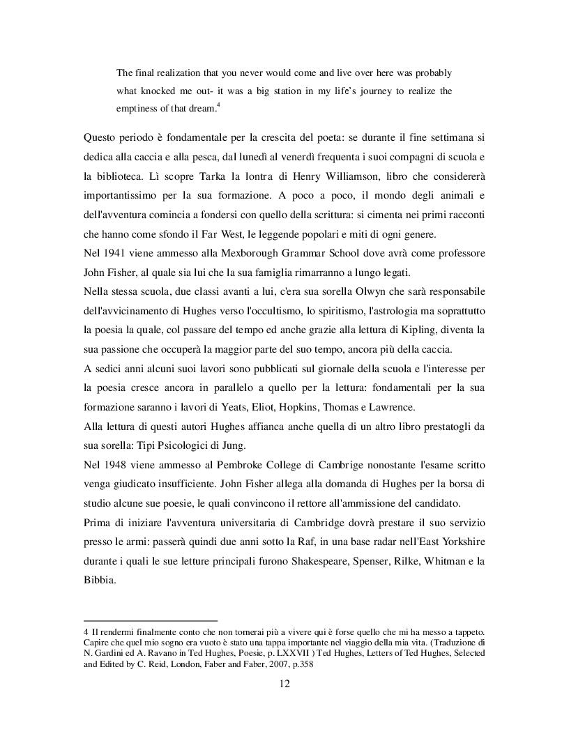 Estratto dalla tesi: Birthday letters di Ted Hughes