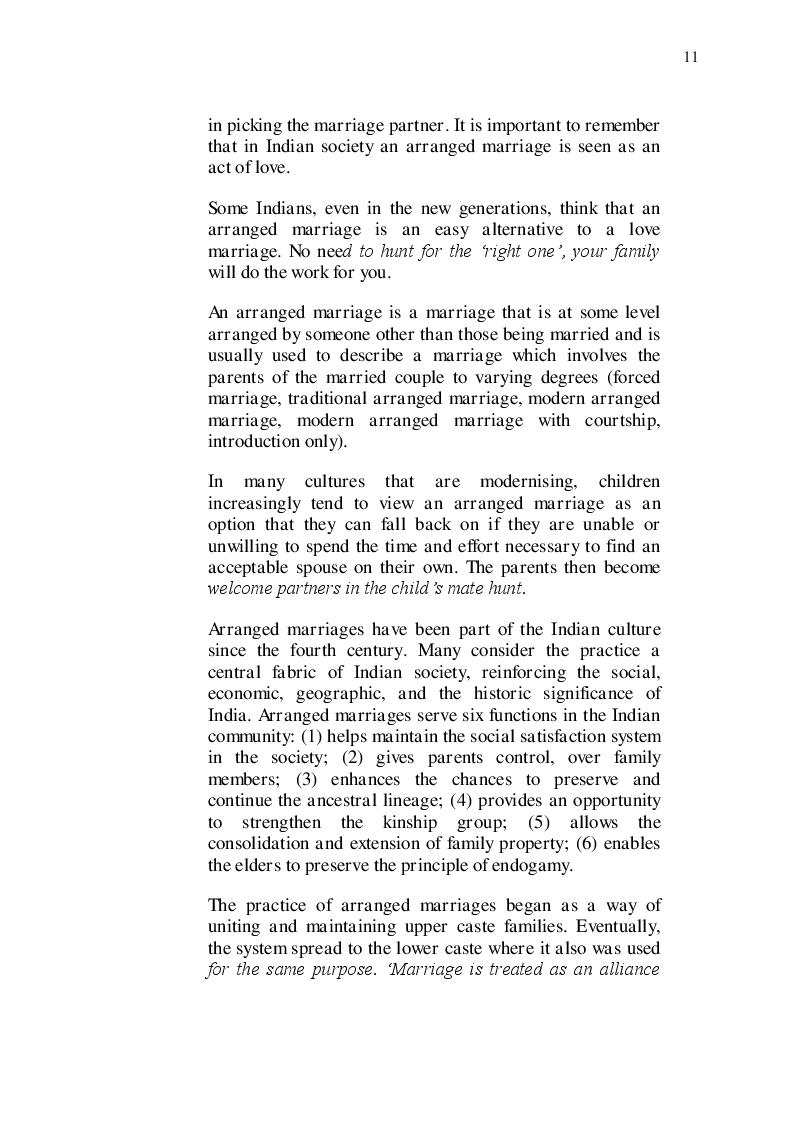 Estratto dalla tesi: ''Il sentiero dei sogni luminosi'' di Jasvinder Sanghera e il tema dei matrimoni combinati nel mondo indiano contemporaneo