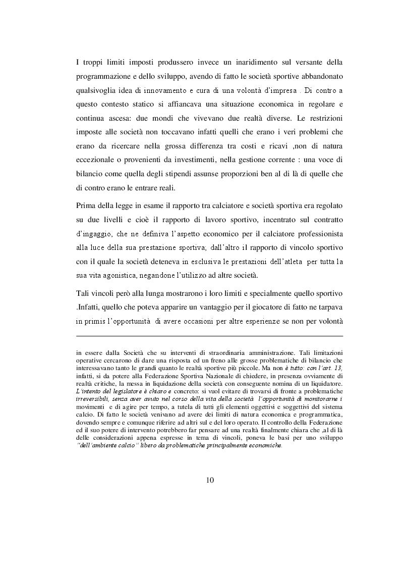 Estratto dalla tesi: Analisi economico - aziendale delle società di calcio quotate in borsa: il modello Juventus F.C.