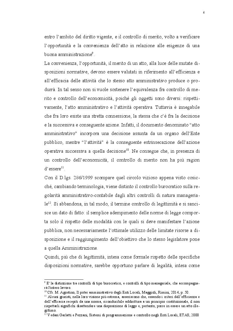 Estratto dalla tesi: Il controllo di regolarità amministrativa e contabile negli Enti Locali: l'applicazione dei principi di revisione