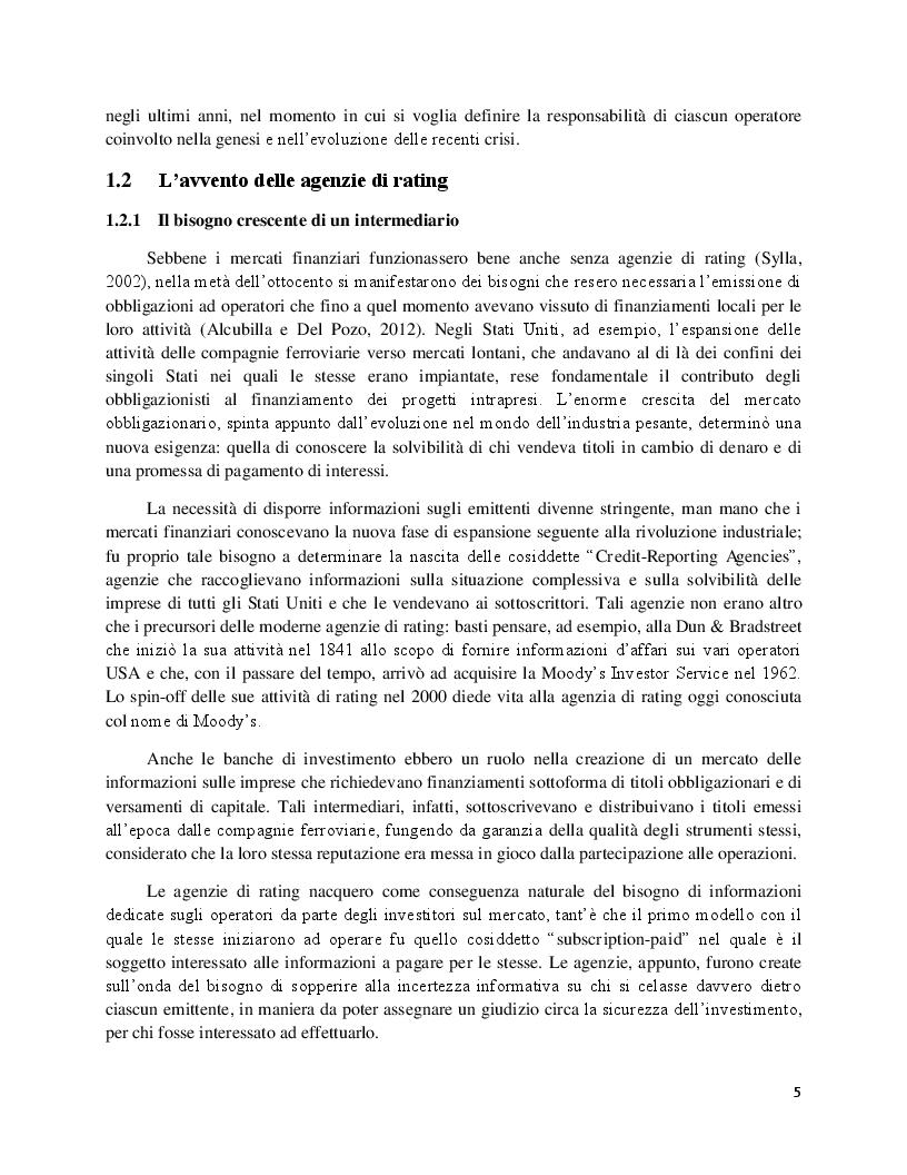 Estratto dalla tesi: Il rating sovrano INCRA  e gli shadow rating