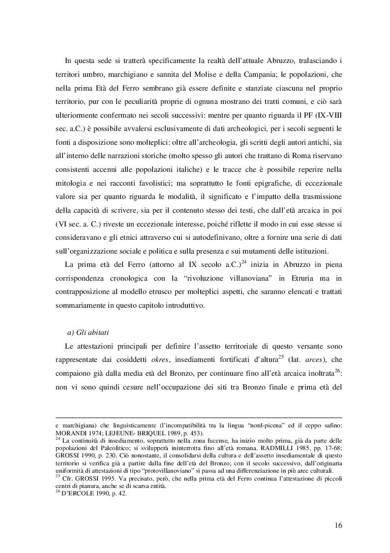 Estratto dalla tesi: Sviluppi dell'epigrafia sabellica tra il VII e il I secolo a.C.