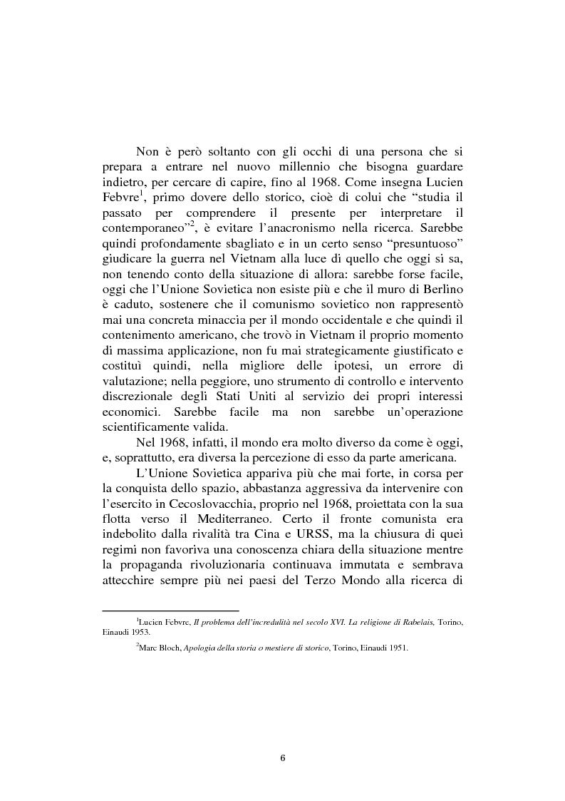 Anteprima della tesi: L'America in Vietnam attraverso la grande stampa italiana, 1967-1968, Pagina 2