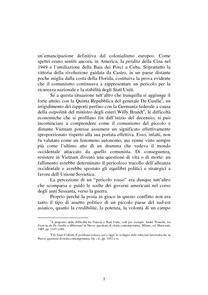 Anteprima della tesi: L'America in Vietnam attraverso la grande stampa italiana, 1967-1968, Pagina 3