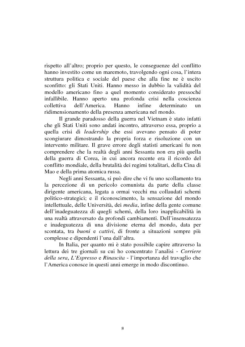Anteprima della tesi: L'America in Vietnam attraverso la grande stampa italiana, 1967-1968, Pagina 4