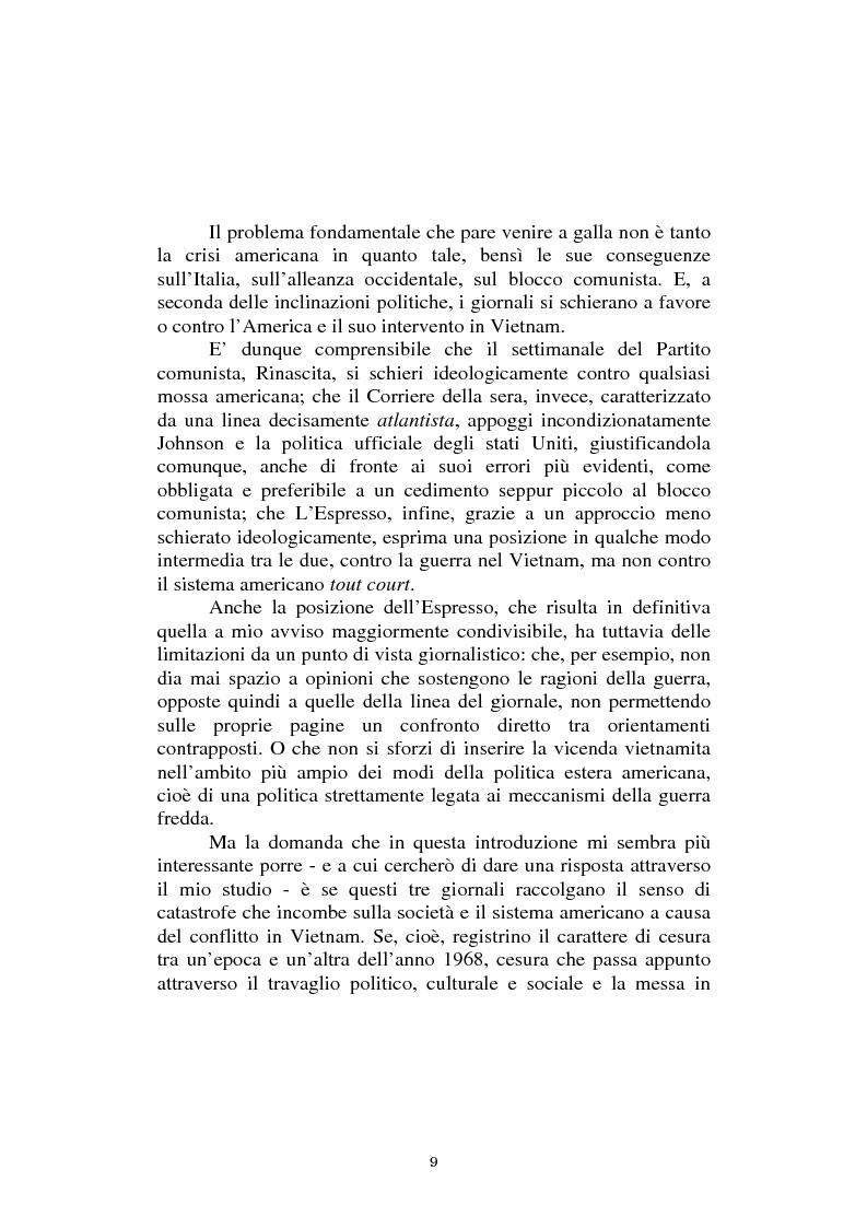 Anteprima della tesi: L'America in Vietnam attraverso la grande stampa italiana, 1967-1968, Pagina 5