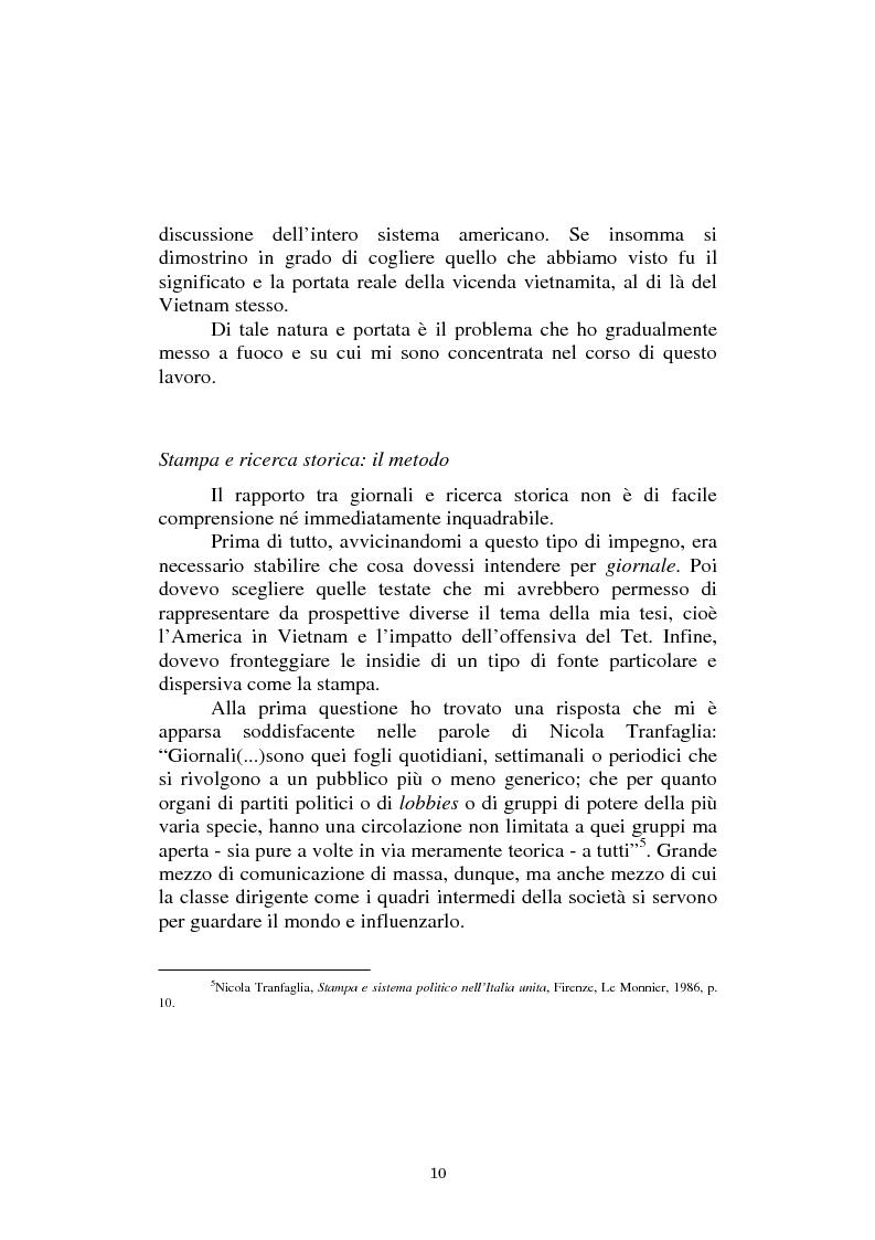 Anteprima della tesi: L'America in Vietnam attraverso la grande stampa italiana, 1967-1968, Pagina 6