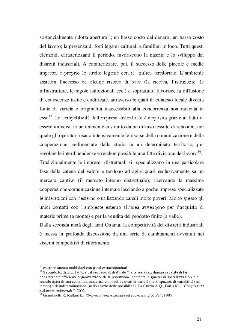 Estratto dalla tesi: Opzioni strategiche per le piccole-medie imprese distrettuali di fronte alla globalizzazione: il caso dell'occhialeria bellunese