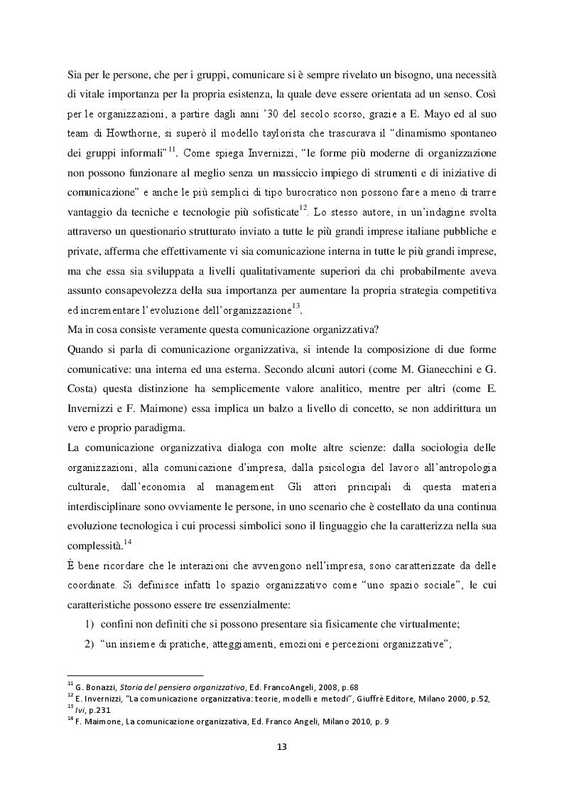 Estratto dalla tesi: Analisi di alcuni aspetti relativi  alla comunicazione interna:  la gestione delle riunioni