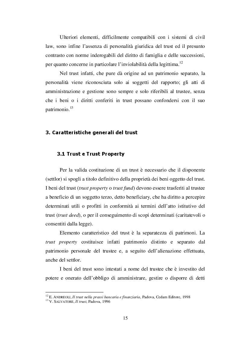 Estratto dalla tesi: La Disciplina dell'Istituto del TRUST nella comparazione tra Ordinamenti Tributari Moderni