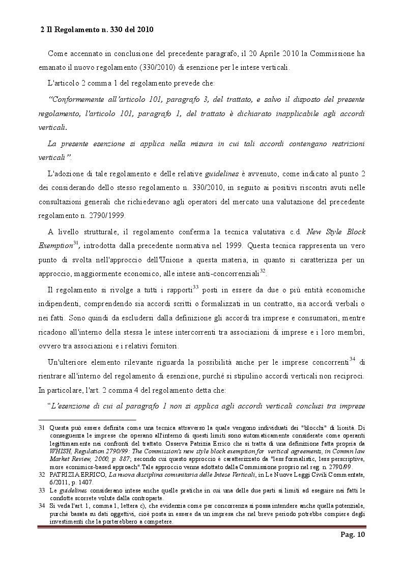 Estratto dalla tesi: Intese verticali e Franchising una comparazione degli ordinamenti italiano e canadese