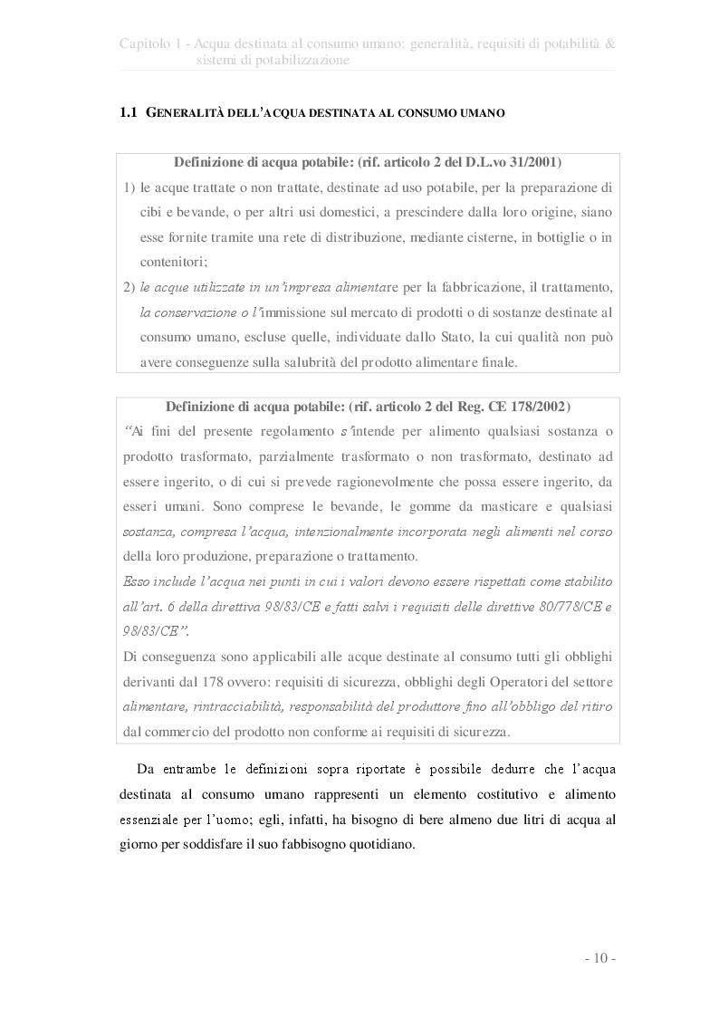 Estratto dalla tesi: Valutazione del giudizio di qualità ed idoneità d'uso delle opere di captazione d'acqua sotterranea ad uso potabile nell'ambito dei pozzi dell'A.Q.P. della provincia di Taranto